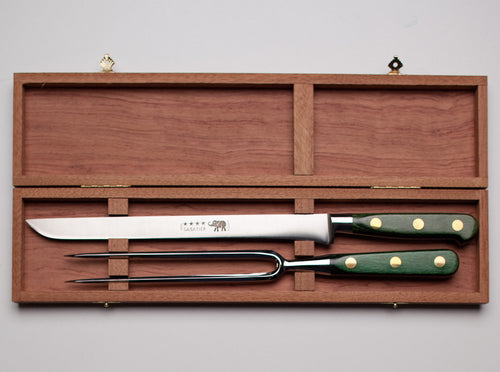 Thiers-Issard Four-Star Elephant Sabatier Knives master carving knife set - green stamina