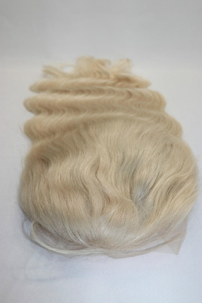 Full Lace Wig Platinum Blonde Wavy