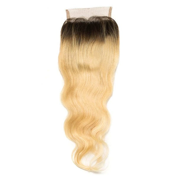 Russian Blonde Ombre Wavy Closure (4x4)