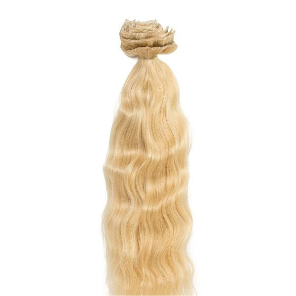 Russian Blonde Wavy Clips (200g)