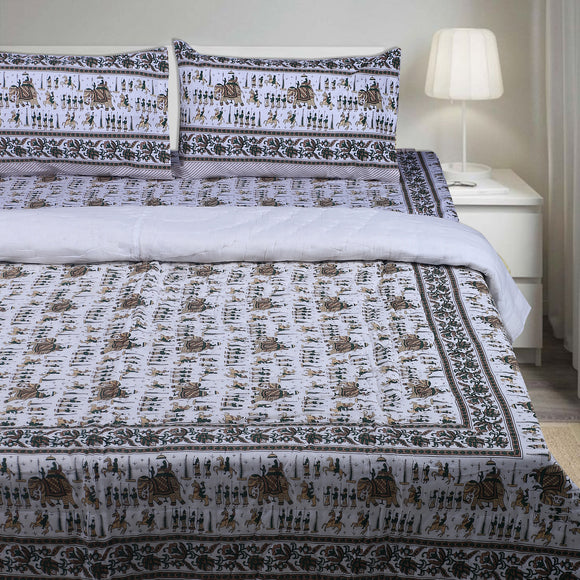 Double / Queen Bedding Set- Block Print