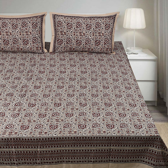 Bagru Print 108 x108 inches King Size Bedsheet