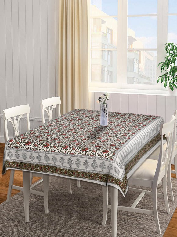 Dining Table Cover 100 x 60 inches - Red Floral
