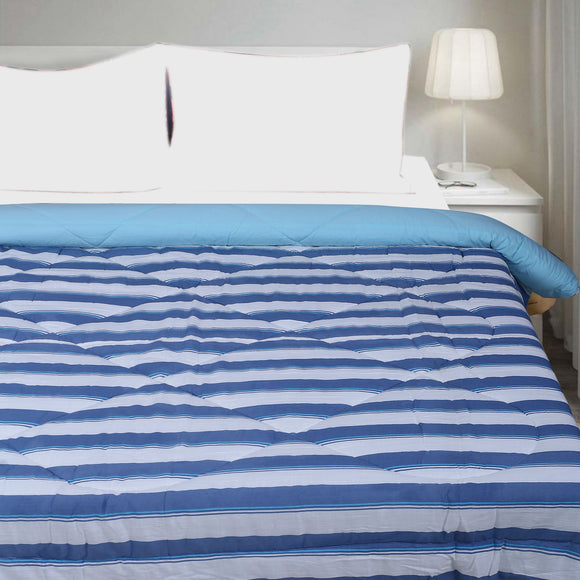 Blue Stripes Microfiber Comforter