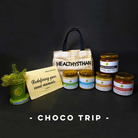Choco Trip (Chocolate + Choice of one jar, Premium bag, Plant pot, Custom card)