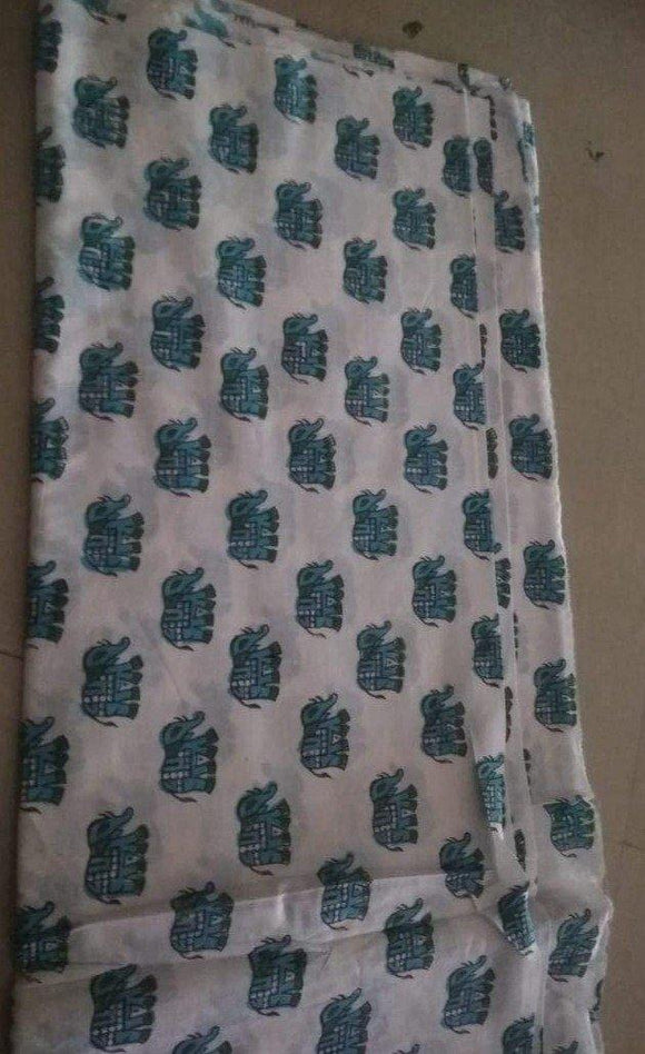 Cotton Camrik 44 inches width-Small Elephant