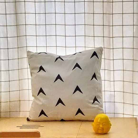 Arrow Cushion Cover-Cushion Covers-Saryu Homes-16 inch-Saryuhomes