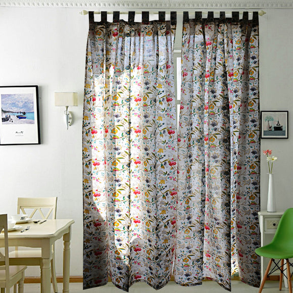 Breezy Voile Curtain Pair White-Curtains-Saryu Homes-7ft Door-Saryuhomes