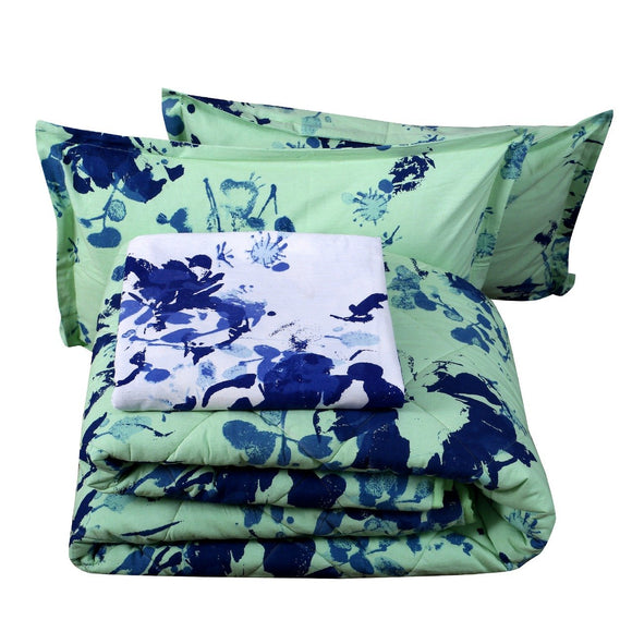 King Bedding Set- Fluorescent Floral-Bedding Set-Saryu Homes-Saryuhomes