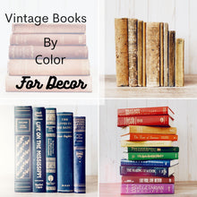 Load image into Gallery viewer, Vintage Decorative Books By Color for Bookshelf Decor, Real Books for Decorating, Home Staging, Individual Books