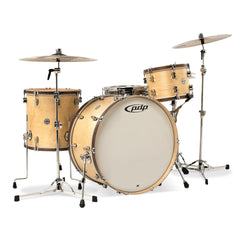 PDP Concept Maple Classic Drum Set - Natural Finish with Tobacco Wood Hoops