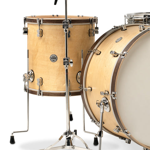PDP Concept Maple Classic Drum Set - Tobacco Finish with Natural Wood Hoops