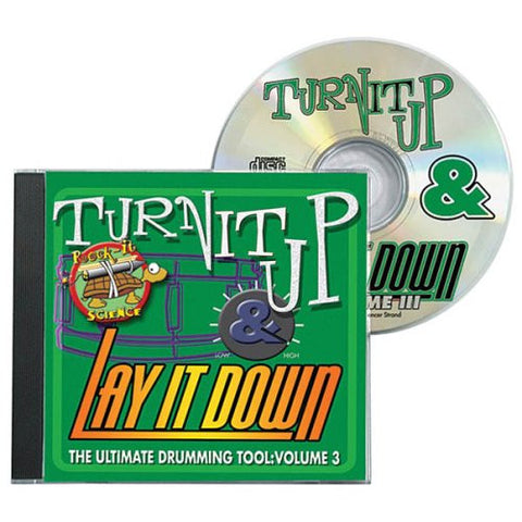 Turn It Up Lay It Down Volume 3 - Play Along CD For Drummers