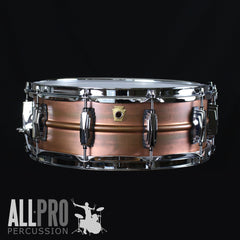 Ludwig Copperphonic 14x5 Snare Drum Front View