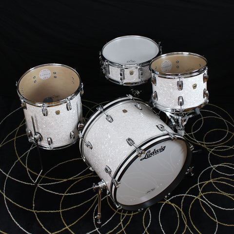 Ludwig Classic Maple 4 Pc Downbeat White Marine Pearl