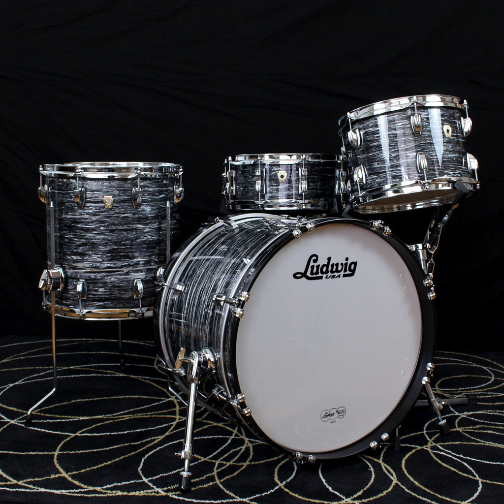 Ludwig Classic Maple Downbeat Drum Set  Vintage Black Oyster Pearl