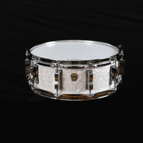 Ludwig Classic Maple Snare Drum White Marine Pearl