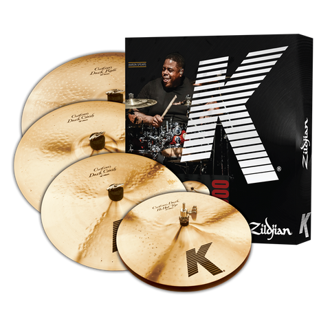 "Zildjian K Custom Series Box Cymbal Set Plus Free 18"" K Custom Dark Crash"