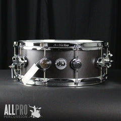 DW 14 X 5.5 Collector's Birch VLT Snare Drum with Hybrid Bearing Edge - Ebony Satin Oil