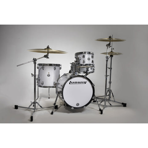 ludwig breakbeats 4pc drum set white sparkle - questlove