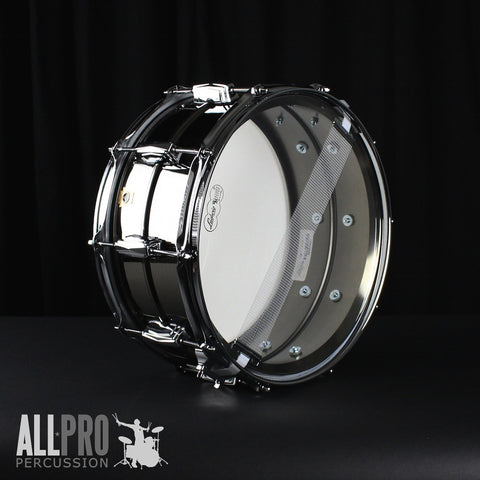 Ludwig 14 x 6.5 Black Beauty Smooth Shell, Imperial Lugs Supraphonic Snare Drum
