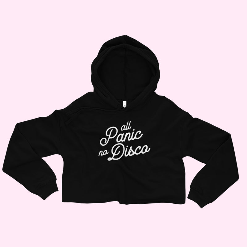All Panic No Disco, Cropped Hoodie