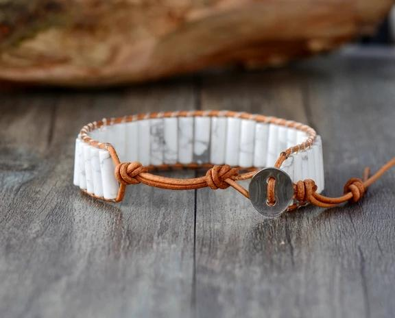 Howl At The Moon<br>Howlite Bracelet