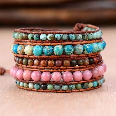 Good Vibrations Wrap Bracelet