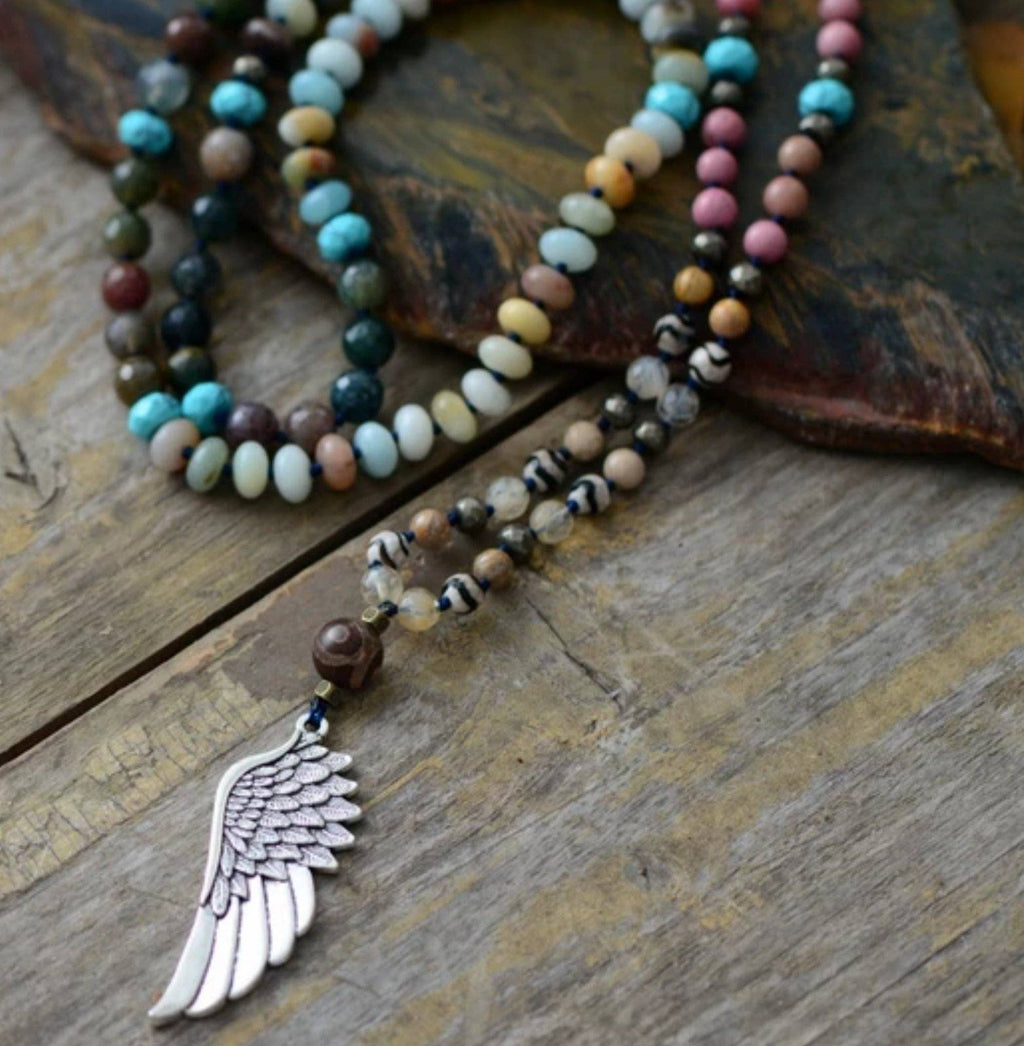 Take Flight, Winged Pendant Necklace