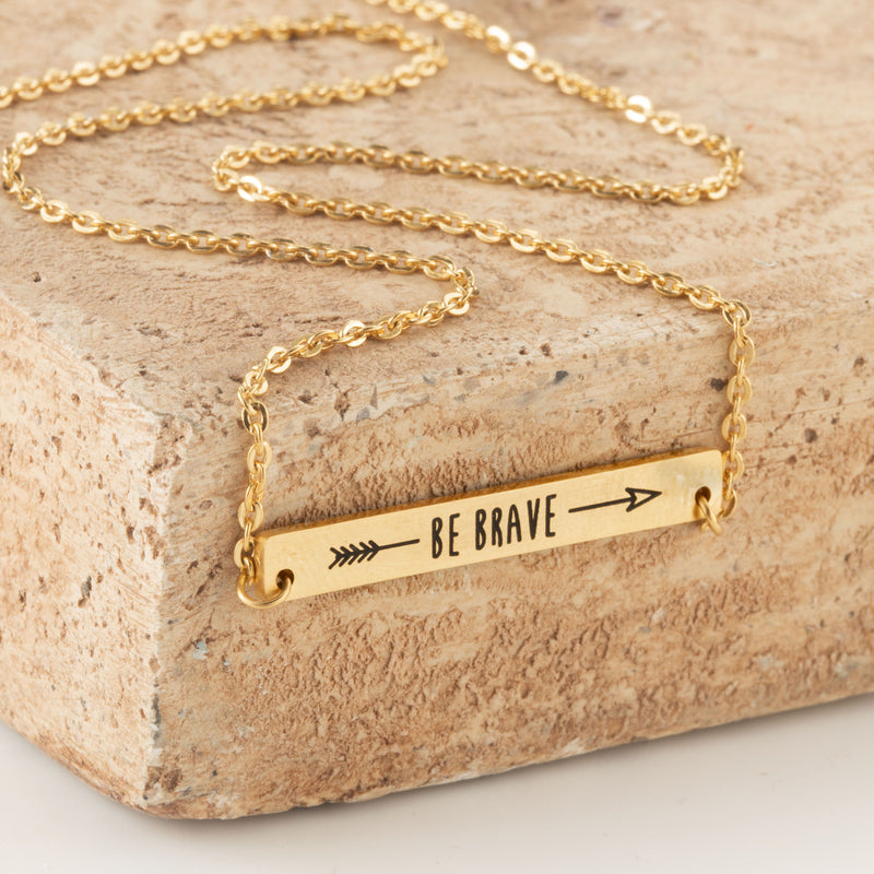Be Brave, Bar Necklace