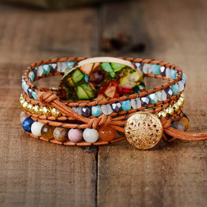 Color Me Happy<br>Jasper Wrap Bracelet
