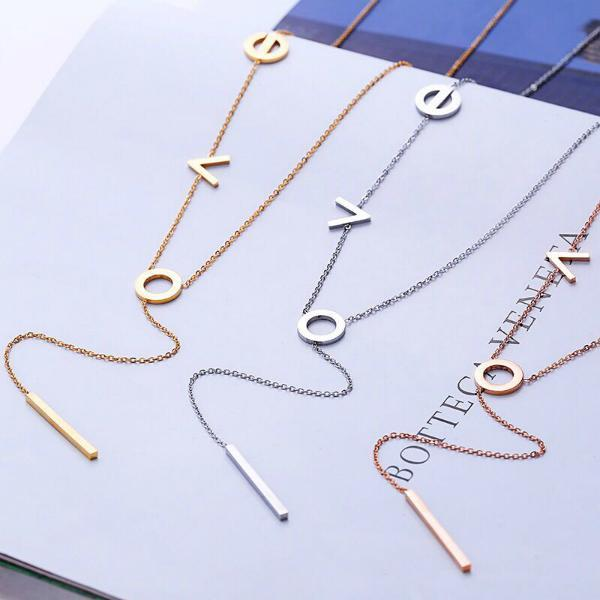 Let Love Rule Lariat Necklace