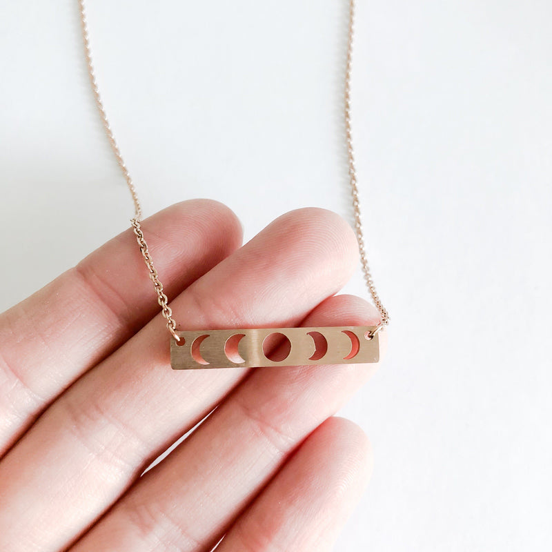 Lunar Eclipse, Bar Necklace