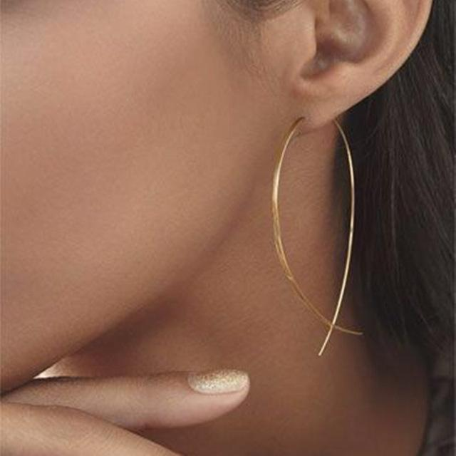 Teardrop Threader Earrings