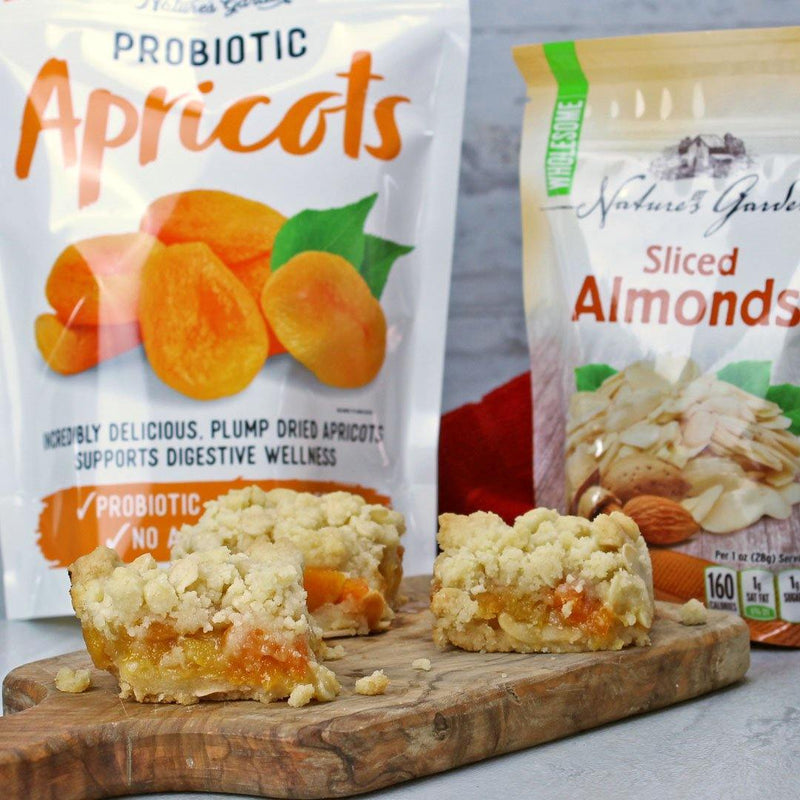 Apricot Almond shortbread bars are a healthy snack option for your sugar cravings. These shortbreads are smart snacking options.