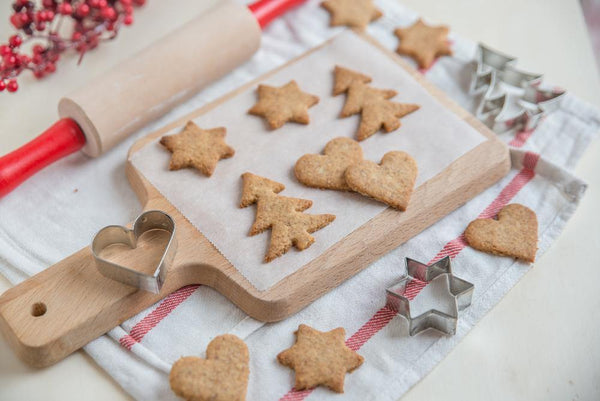 Christmas Shortbread Almond Flour Cookies - Nature's Garden