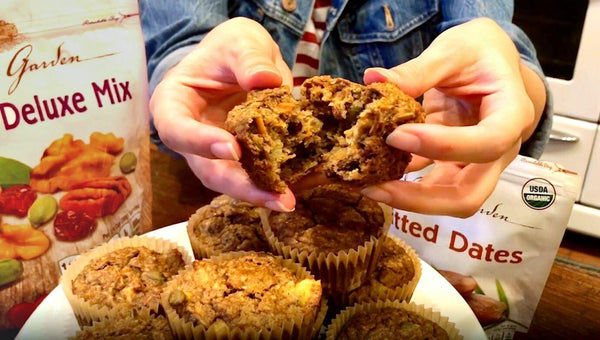 Muffins can be healthy with our morning glory muffins recipe. Rise and shine with our muffin recipe.
