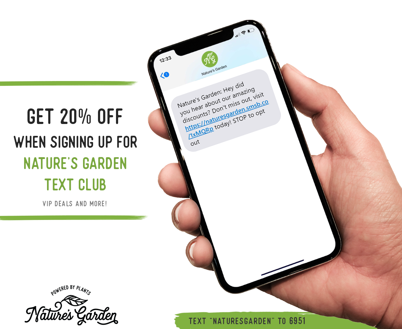 Sign up for Nature's Garden Text Club!