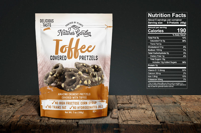 Nature's Garden Toffee Covered Pretzels