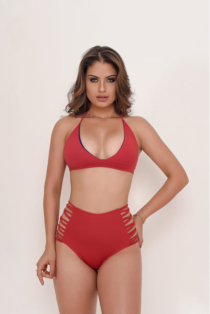 Sara Red Swimsuit