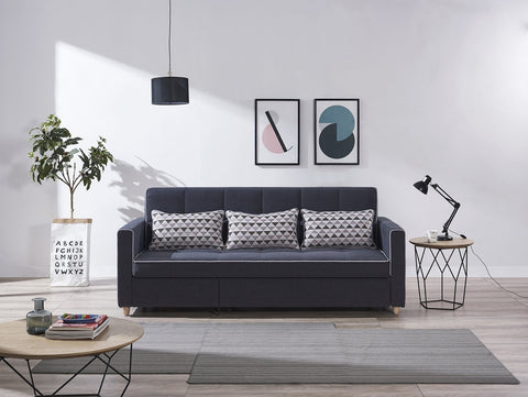 Featuring Terry Blue Sofa Bed at Megafurniture