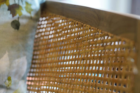 Gallery 278 Rattan Chair and Designer Guild Fabric Cushion