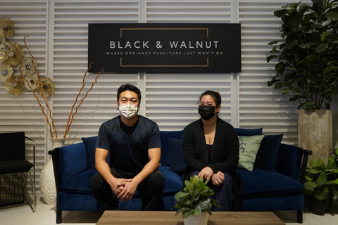 Daniel Tan and Kaela Yeo at Black & Walnut