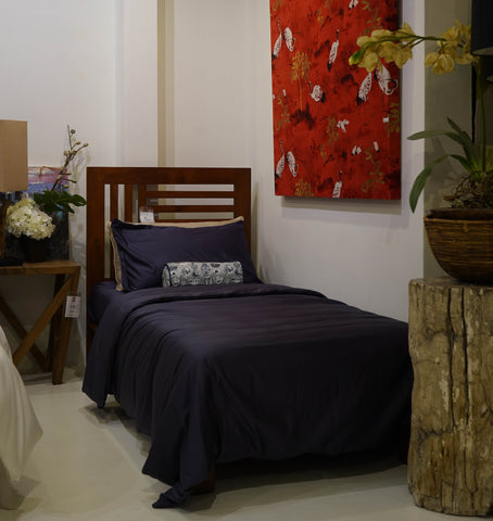 Weavve Home Cotton Sheets in Midnight Blue at Gallery 278 by Esco Leasing