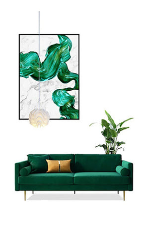 Bethany Modern Lux Velvet Sofa from Born In Colour on display