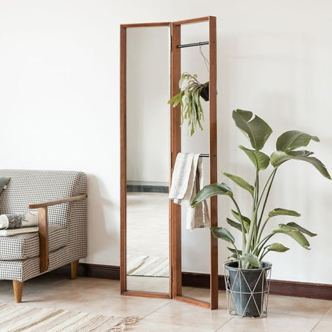 Fika Swedish Clothing Rack Standing Mirror from Born In Colour