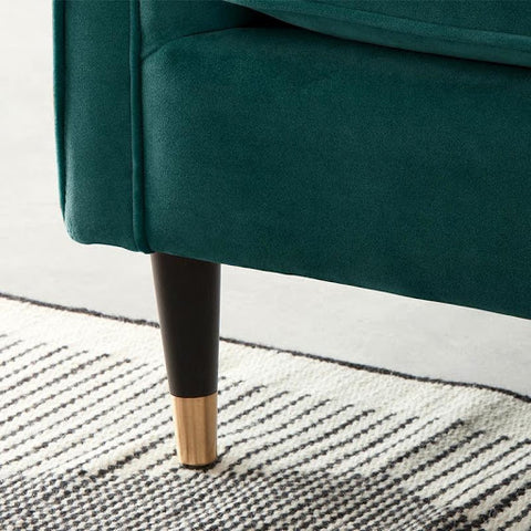 Featuring Bailee 3 Seater Fabric Sofa from Megafurniture leg details