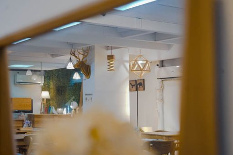 Namu Furniture's Showroom Display, featuring their Wall Mount Elk and several light accessories