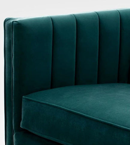 Featuring Bailee 3 Seater Fabric Sofa from Megafurniture fabric detail