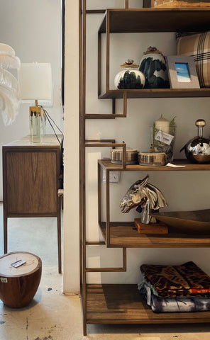 WTP Furniture Showroom display with ornaments and shelf